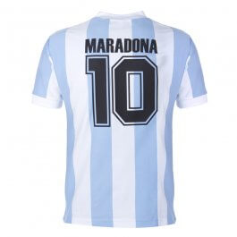 Argentina 1986 World Cup Maradona 10 Retro Football Shirt - Made to order - Lead Time - 4-6 Weeks