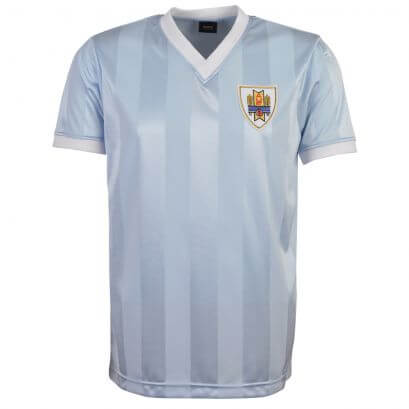 Uruguay 1986 World Cup Retro Football Shirt - Sky