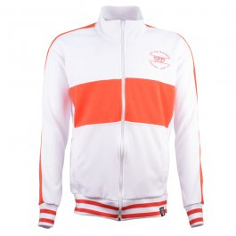 T.O.F.F.S WhiteTrack Top with Red Panel - Made to order - Lead Time - 4 weeks