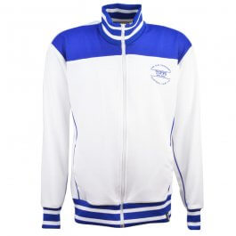 The Old Fashioned Football Shirt Co. - White/Royal Track Top - Made to order - Lead Time - 4 weeks