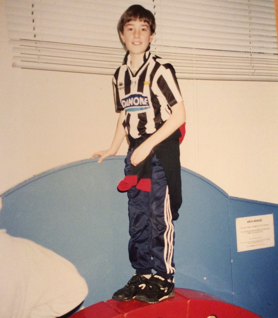 Young Jim Daly in Juventus kit